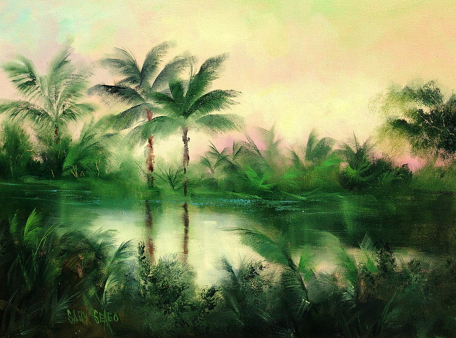 Tropics Painting - Belize River by Sally Seago