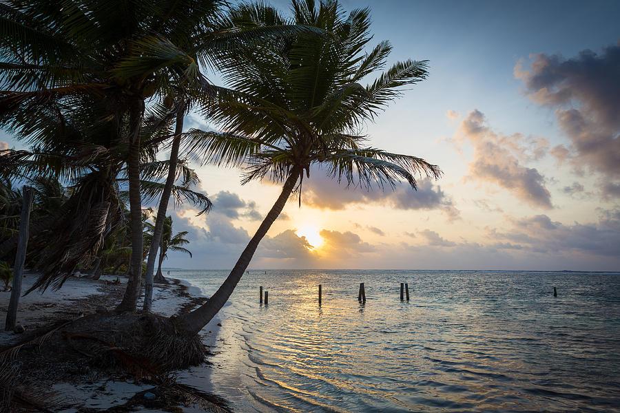 Travel Photograph - Belize Sunrise by Robert Davis