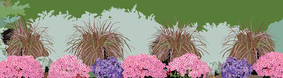 Floral Painting - Belknap Mill Flowers by Marian Federspiel