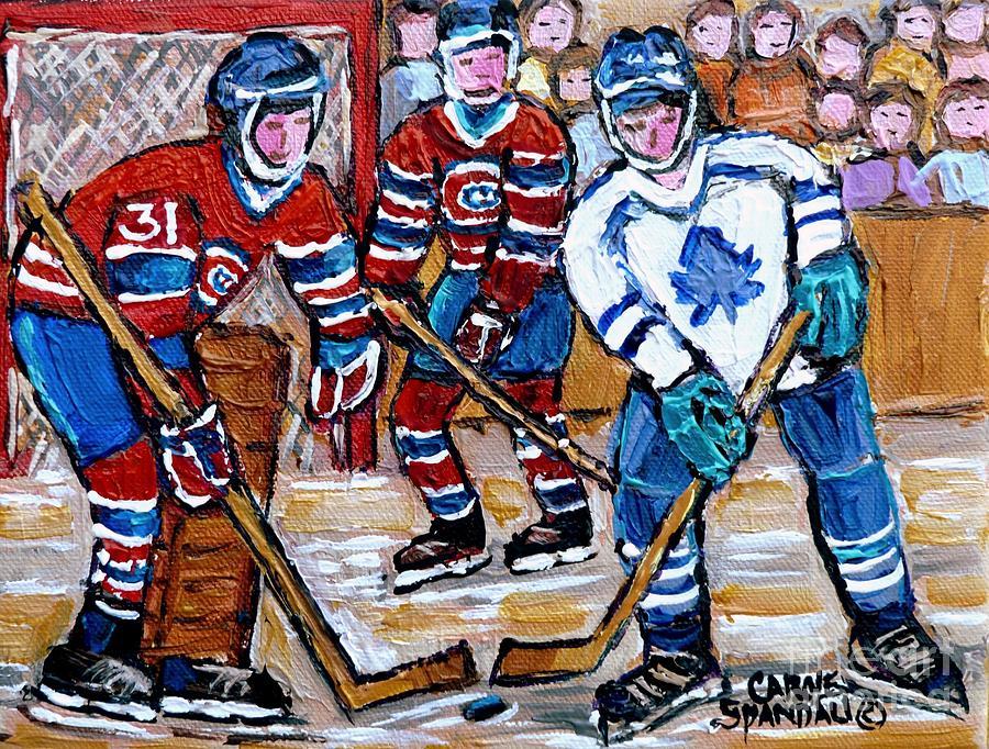 Bell Center Hockey Painting Carey Price Goalie Original 6 Habs Vs