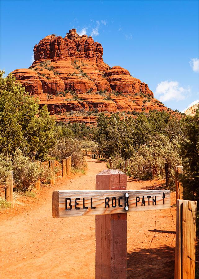 Hills Photograph - Bell Rock Path In Sedona Arizona by Susan Schmitz