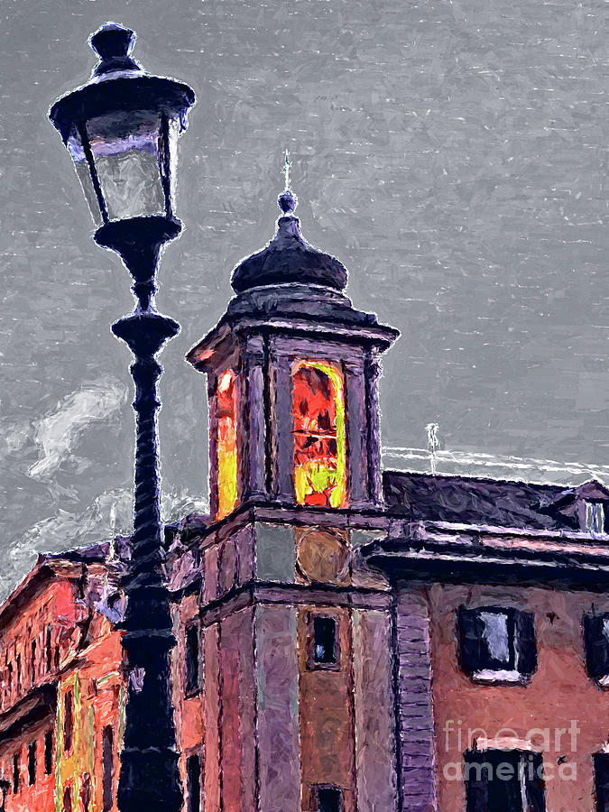 Bell Tower Painting - Bell Tower Of Rome by GabeZ Art
