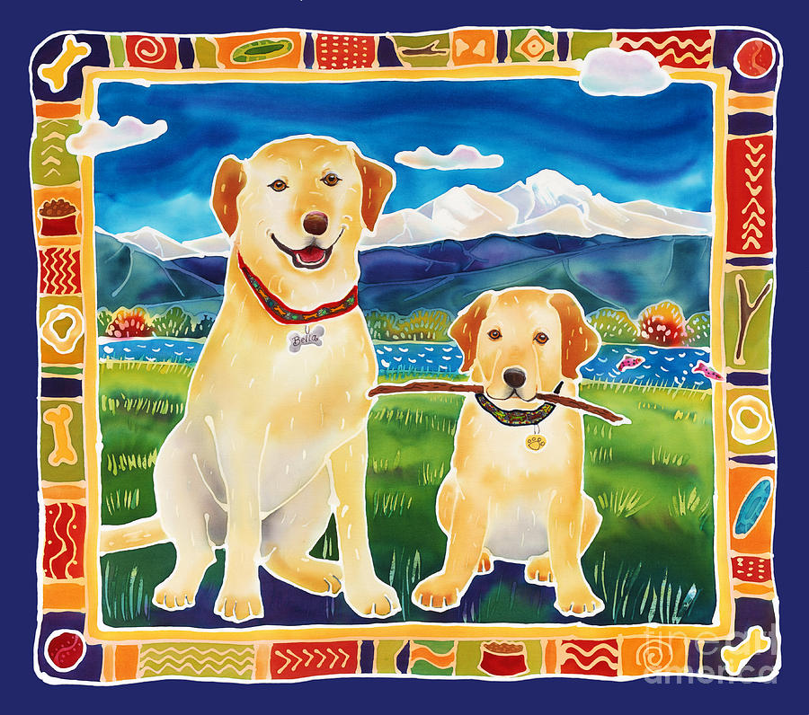 Lab Painting - Bella And Brunos Fine Day by Harriet Peck Taylor