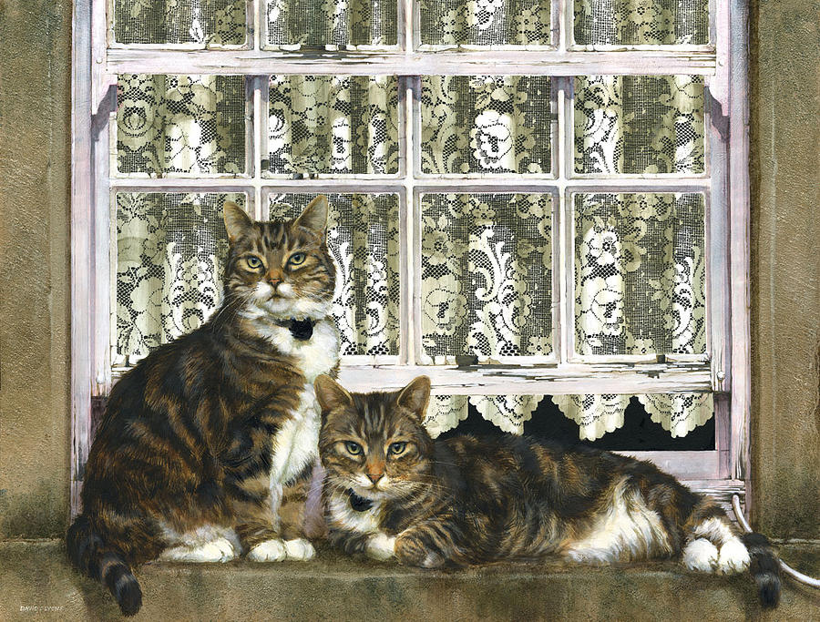Cats Painting - Bella Bella by David Lyons