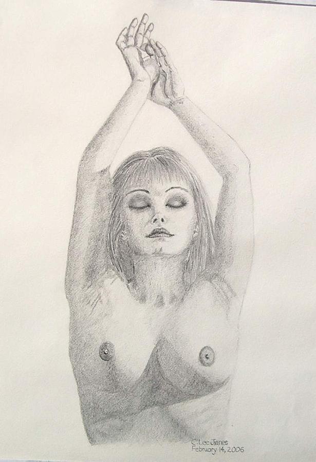 Nude Drawing - Bella by Cat Lee Jones