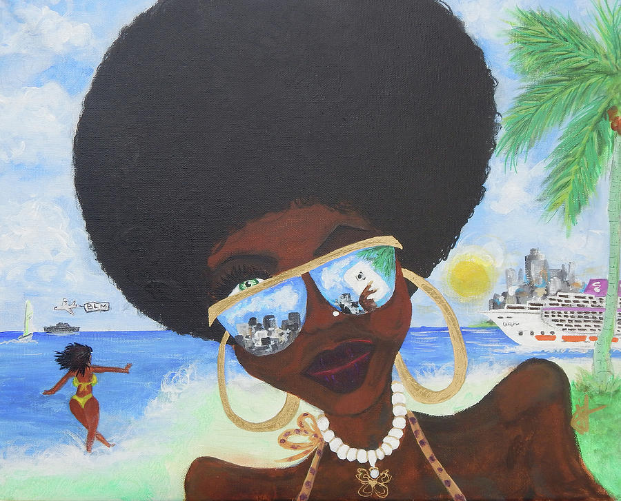 Miami Painting - Bella En Miami - Blm by Jorge Delara