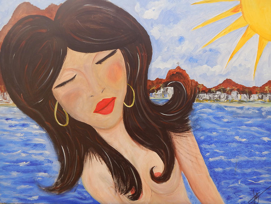 Woman Painting - Bella En Rio by Jorge Delara