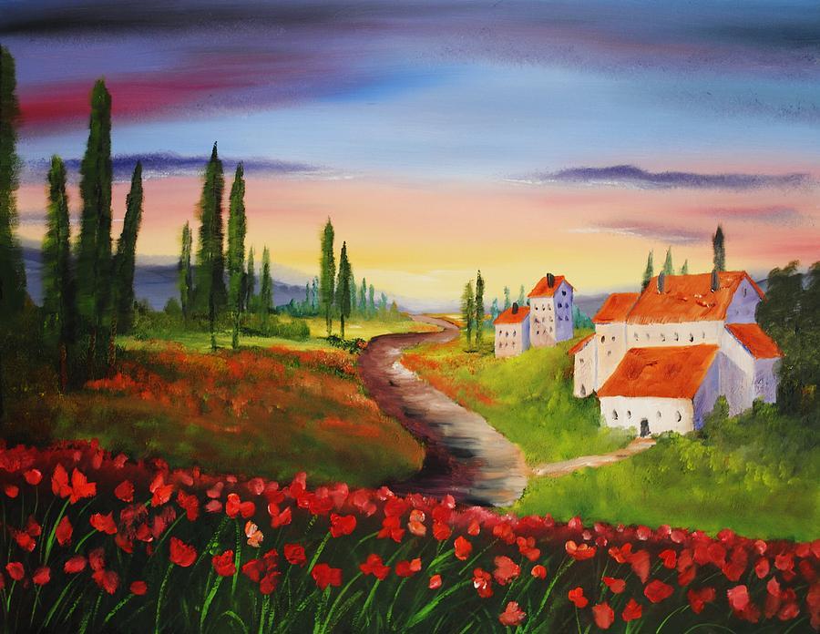 Abstract Painting - Bella by John Johnson