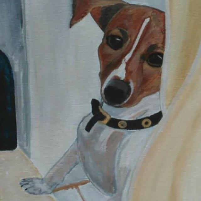 Bella Painting by Nicole Bojorquez