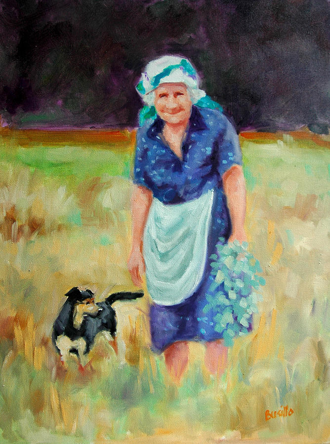 Landscape Painting - Bella Nonna by Kathy Busillo