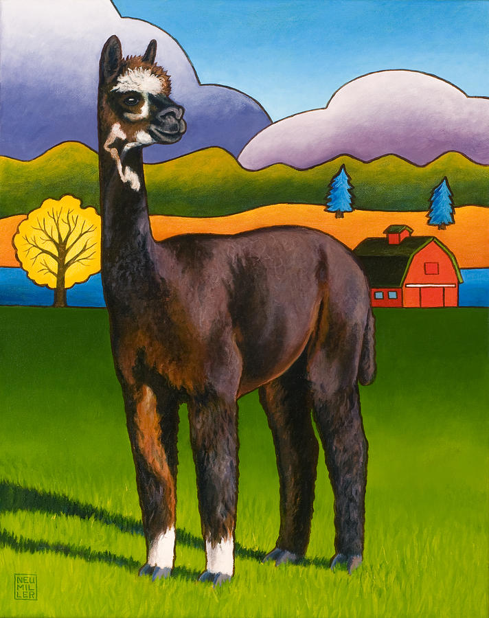 Alpaca Painting - Bella by Stacey Neumiller