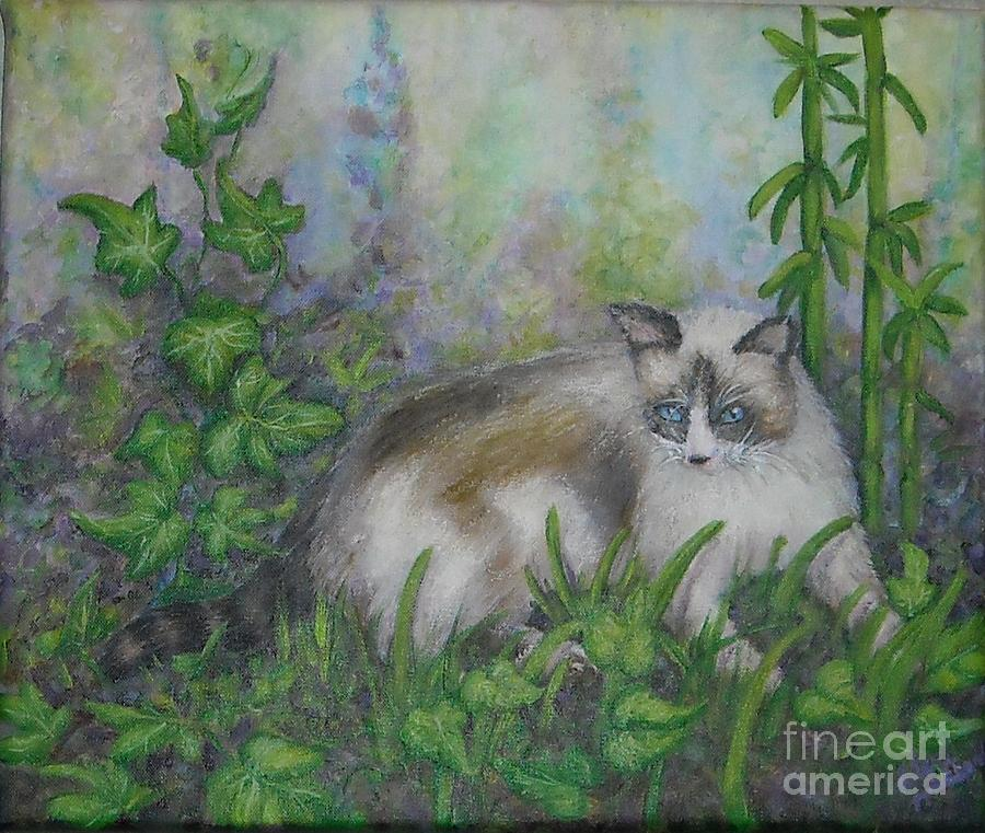 Bella Painting - Bella With Ivy And Bamboo by Sheri Hubbard