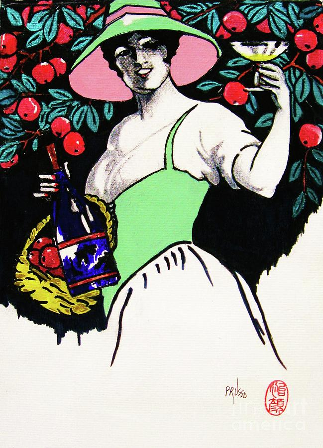 Figurative Painting - Belladonna And Apples by Roberto Prusso