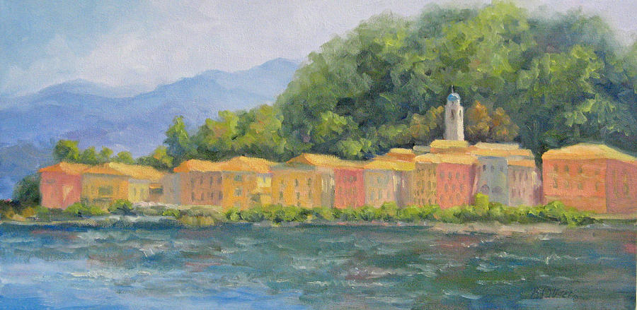 Italy Painting - Bellagio - Pearl Of Lake Como by Bunny Oliver