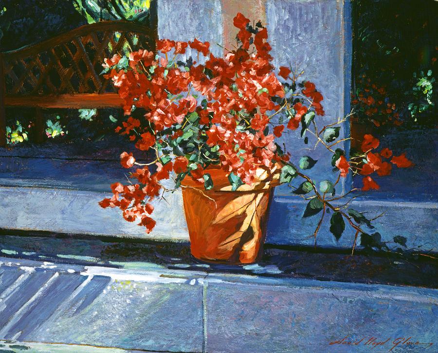 Still Life Painting - Bellagio Bougainvillea by David Lloyd Glover