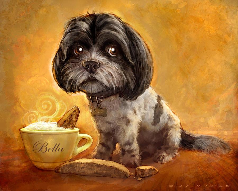 Dog Painting - Bellas Biscotti by Sean ODaniels