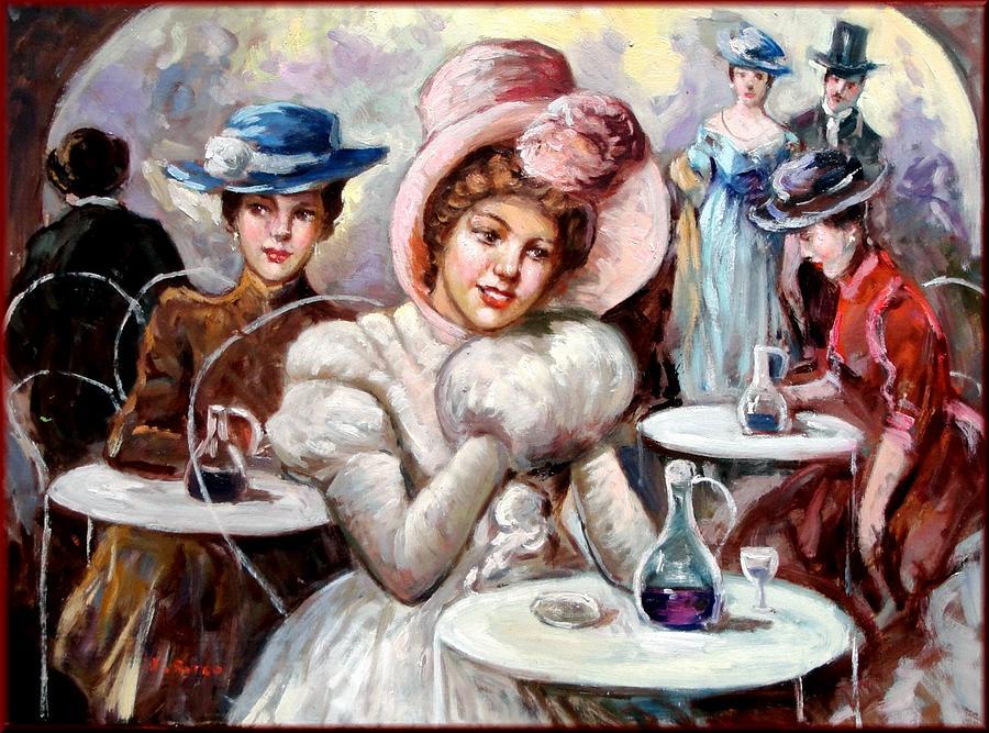Quadri Painting - Belle Epoque Paris France by Giovanni Dirocco