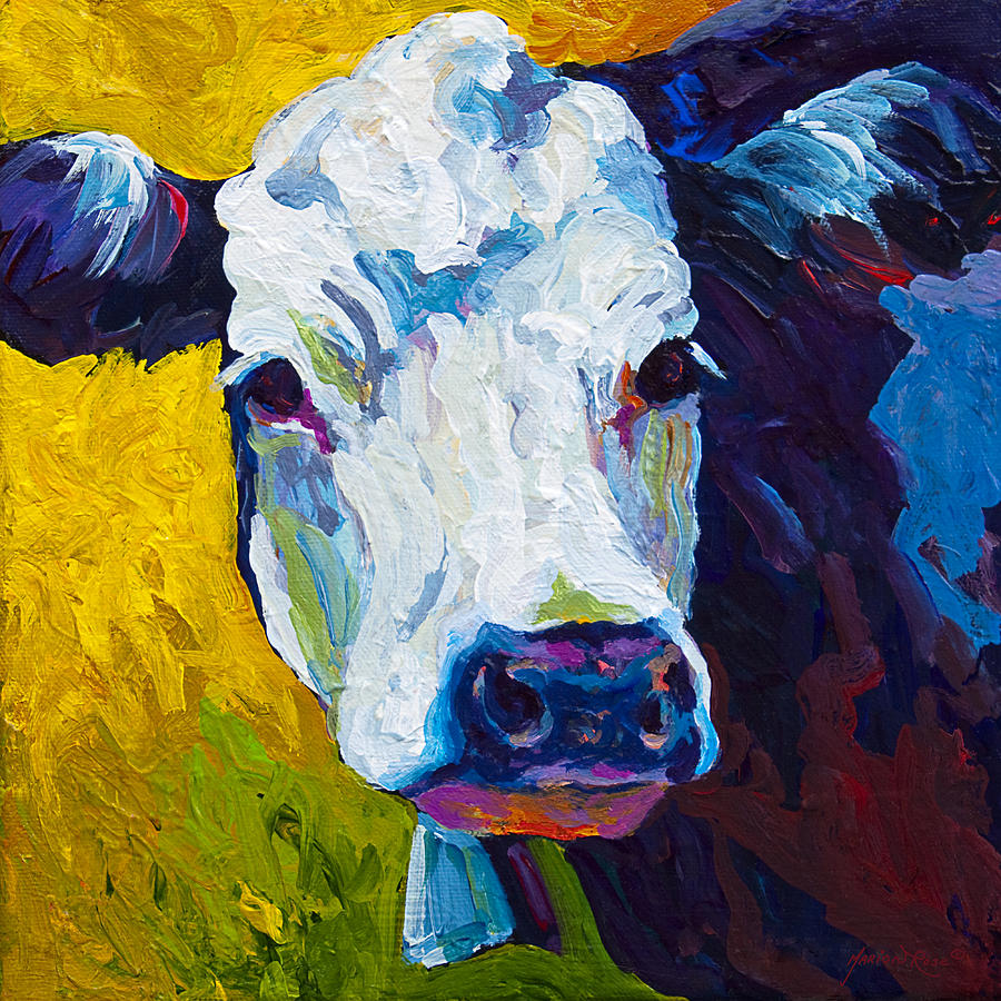 Cows Painting - Belle by Marion Rose