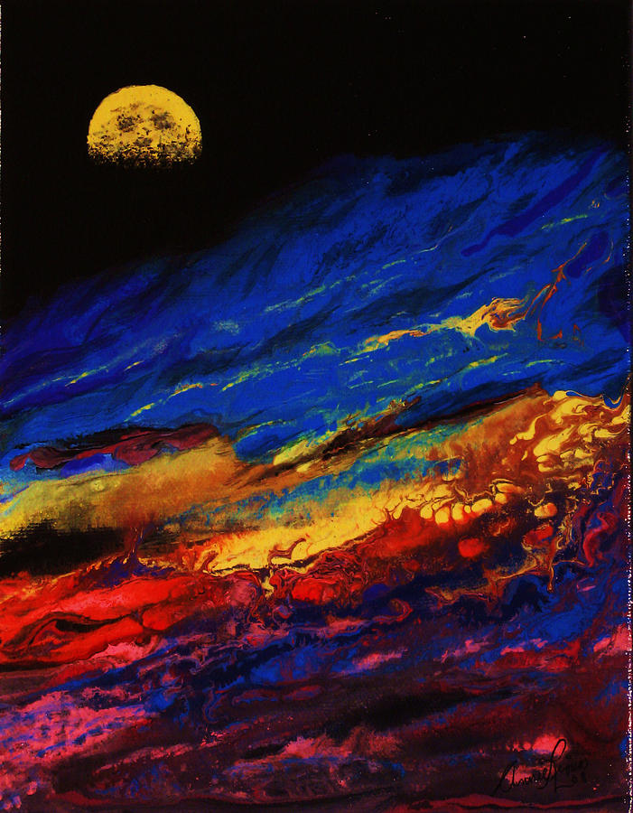 Belle Nuit Painting by Annie  Rioux