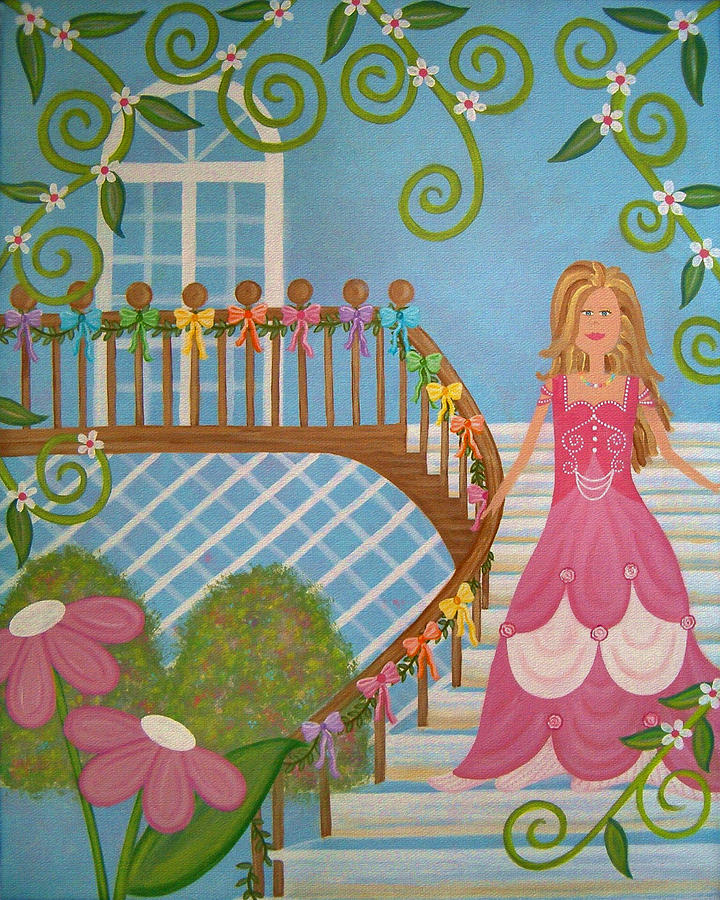 Children Painting - Belle Of The Ball by Samantha Shirley