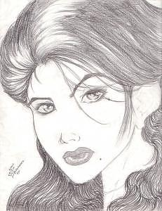 Belleza Drawing by Juan Hernandez