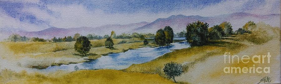 Landscape Painting - Bellinger Valley in Spring by Sandra Phryce-Jones