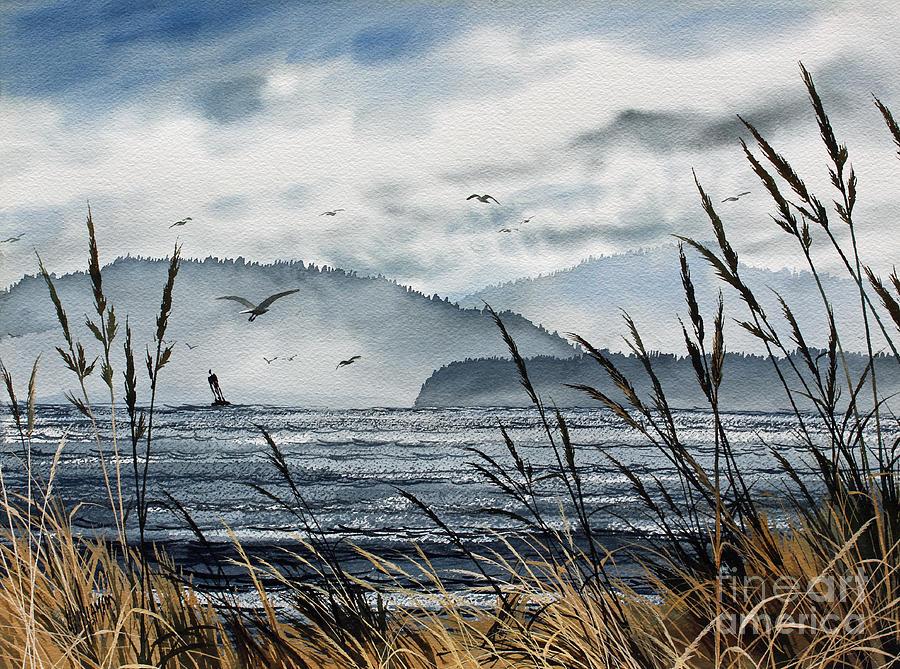 Landscape Fine Art Print Painting - Bellingham Bay by James Williamson