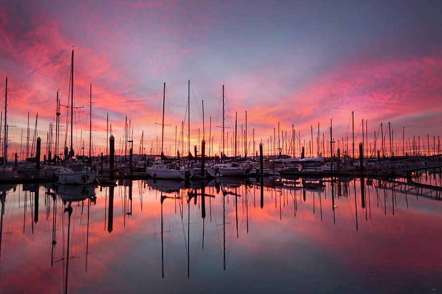 Washington Photograph - Bellingham Sunset by Ryan McGinnis