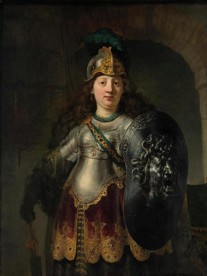 Bellona Painting - Bellona by Rembrandt Harmenszoon van Rijn