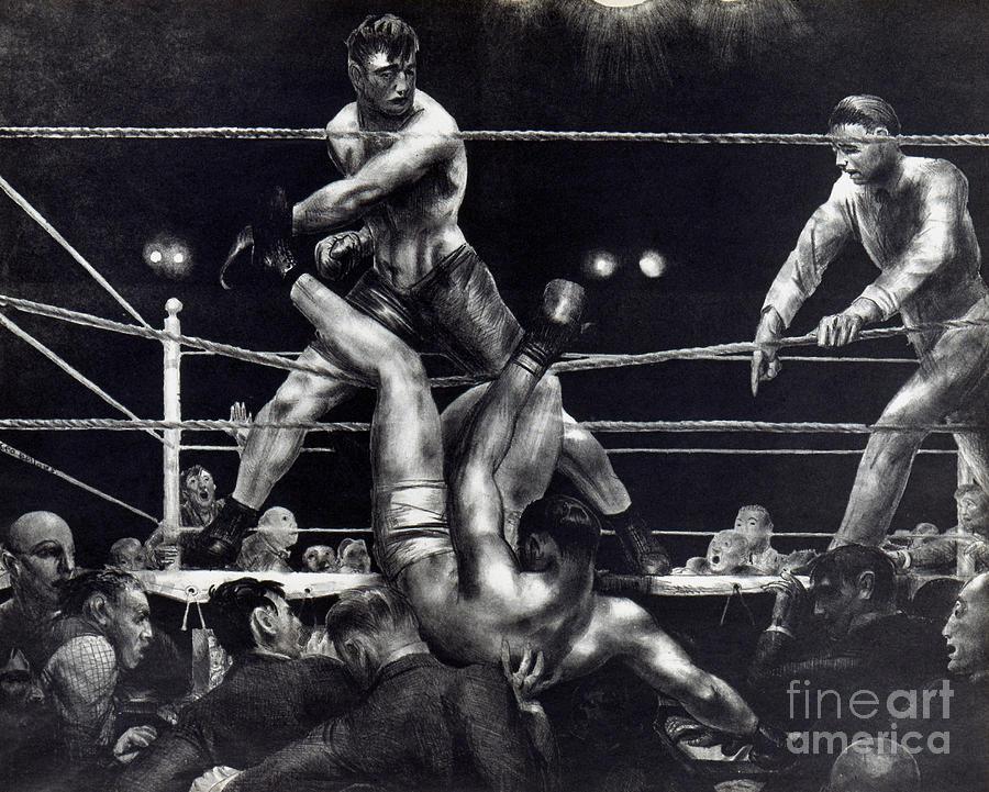 1923 Photograph - Bellows: Dempsey, 1924 by Granger