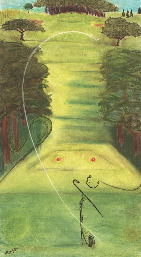 Golf Painting - Bellwood Number Seven by Stu Hanson