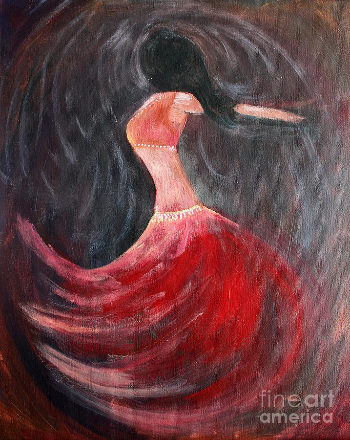 Belly Dancers Painting - Belly Dancer 3 by Julie Lueders