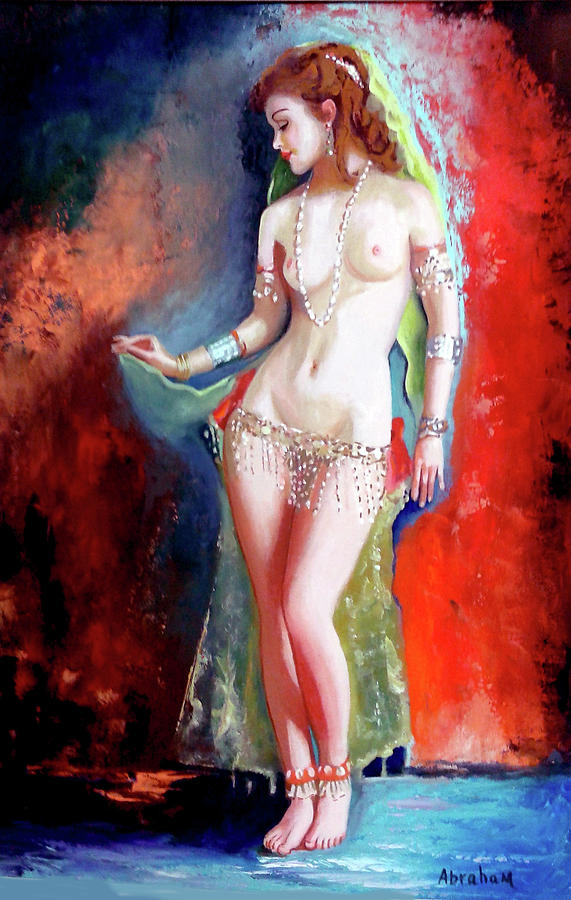 Nude Painting - Belly Dancer 4 by Jose Manuel Abraham