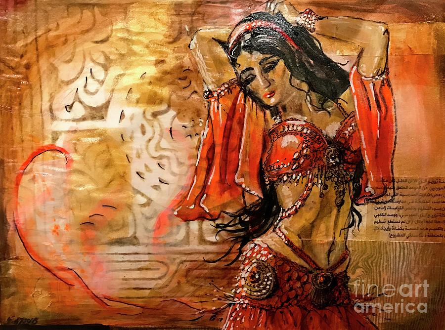 Belly Dancer Collage 01 by Yvonne Ayoub
