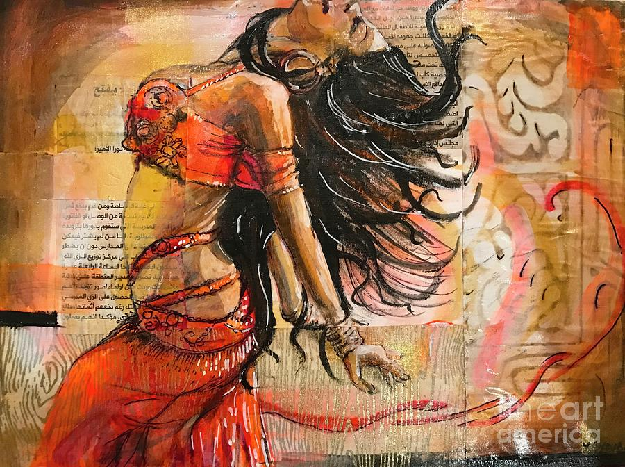 Belly Dancer collage 02 by Yvonne Ayoub