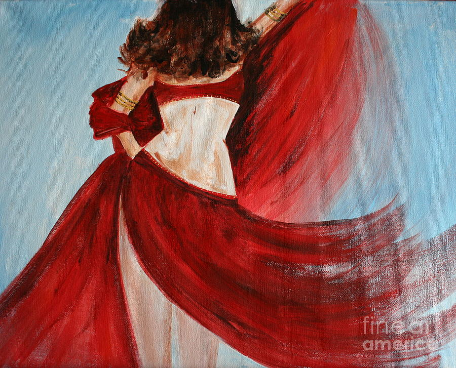 Belly Dancers Painting - Belly Dancer by Julie Lueders