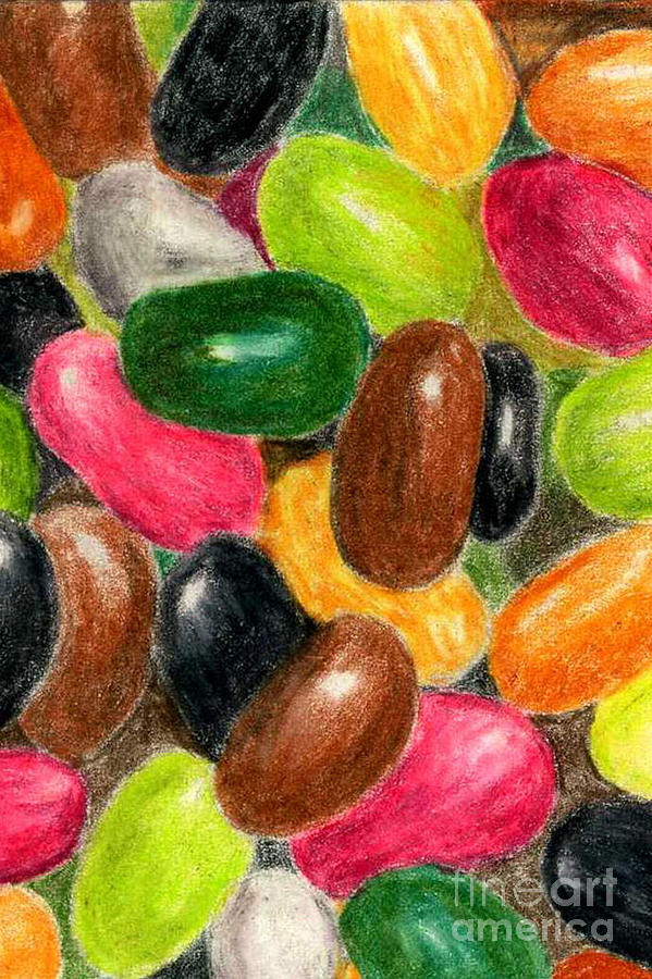 Colored Pencil Painting - Belly Jelly by Lynne Reichhart