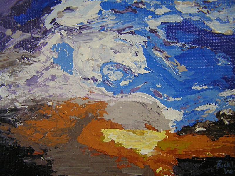 Sunset Painting - Belonging by Ricklene Wren