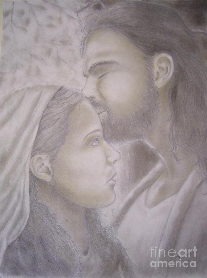 Mary Magdalene Drawing - Beloved Disciple by Oscar Arauz