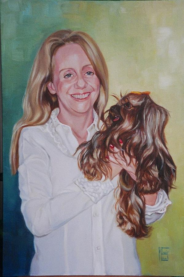 Oil Painting Painting - Beloved Pet by Altair Leal