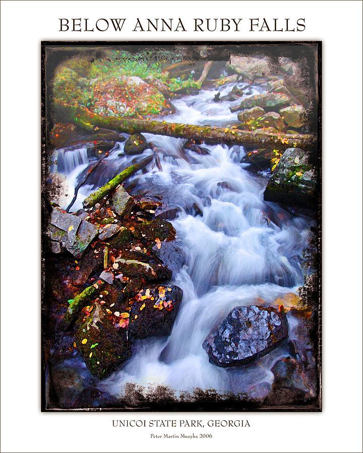 Landscape Photograph - Below Anna Ruby Falls by Peter Muzyka