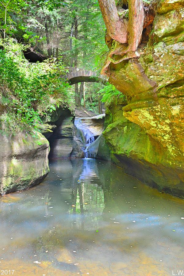 Below Devil S Bathtub At Hocking Hills Ohio Vertical
