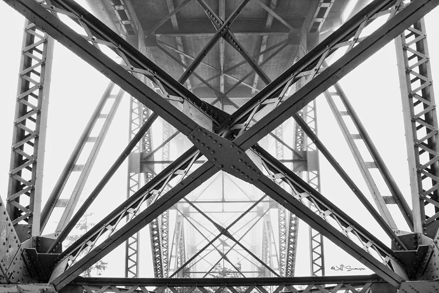 Bridge Photograph - Under The Bridge  by Jeff Swanson