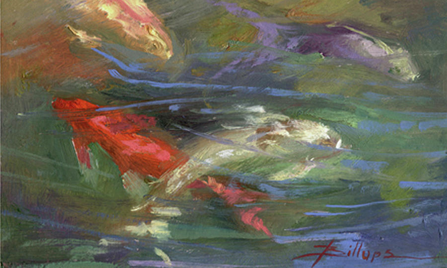 Plein Air Painting - Below The Surface by Betty Jean Billups