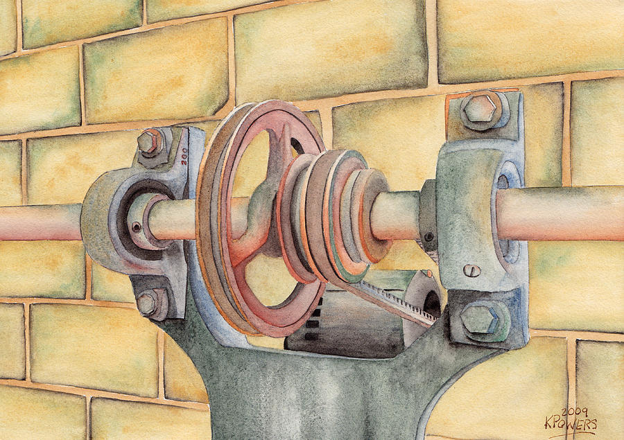 Pulley Painting - Belt Driven by Ken Powers