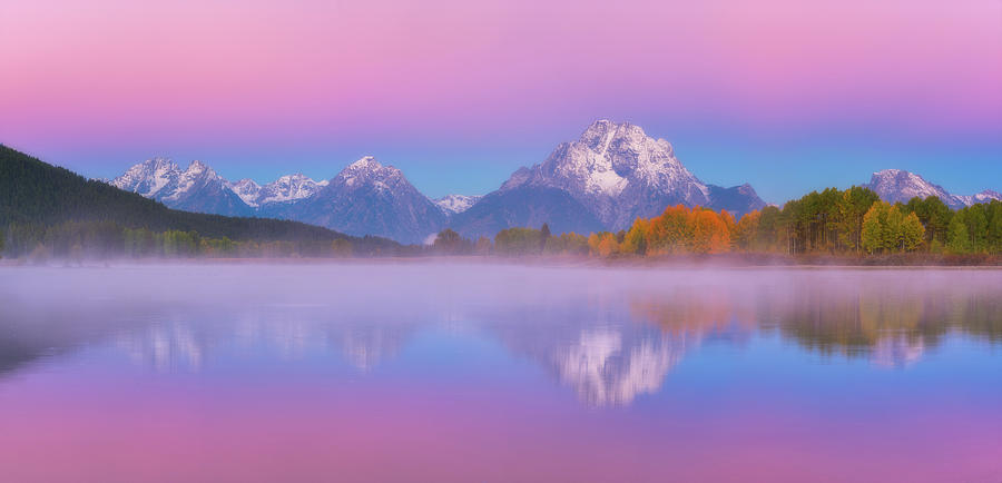 Belt Of Venus At Oxbow Bend Photograph