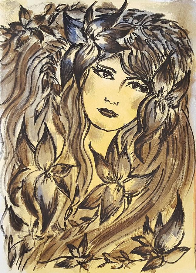 Goddess Painting - Beltane Goddess by Pia Tohveri