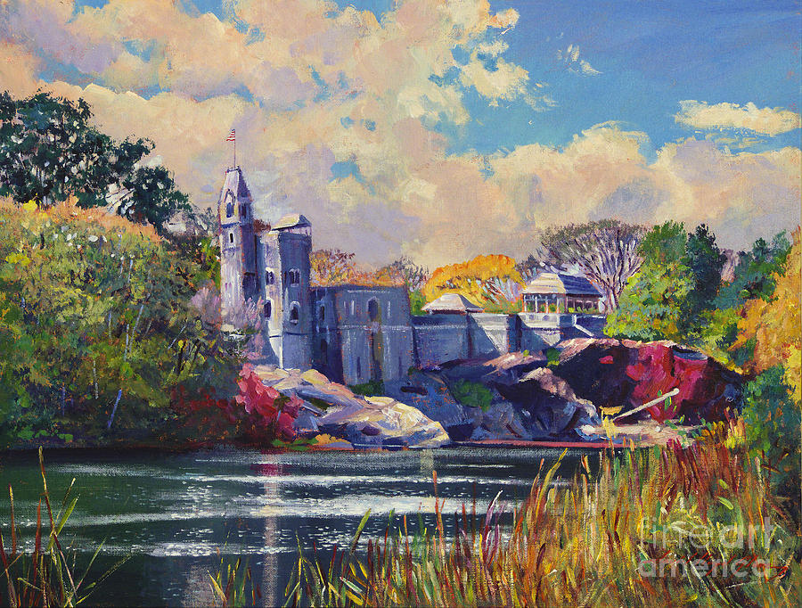 Landscape Painting - Belvedere Castle Central Park by David Lloyd Glover