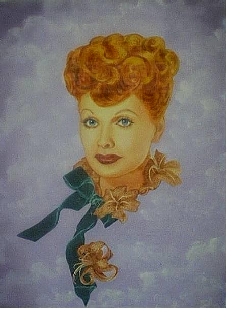 Portraits Painting - Ben-270 Lucille Arnaz - I Love Lucy by Benito Alonso