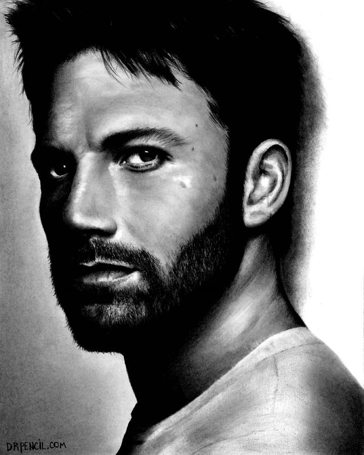 Ben Affleck Drawing - Ben Affleck by Rick Fortson